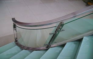 Glass Railing, Tempered Glass Railing