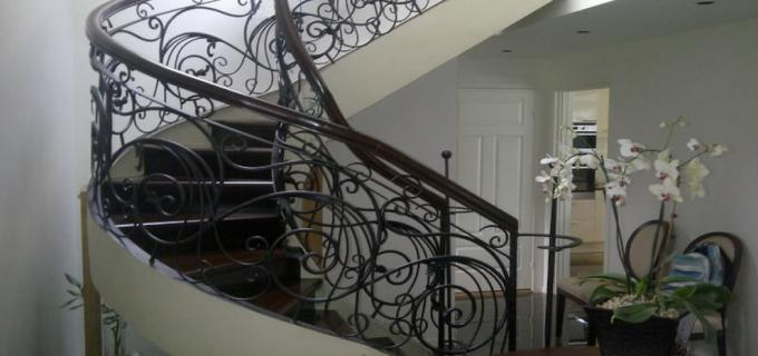Wrought Iron Winding Staircase